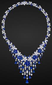 sapphire gem necklace images Sapphire diamond necklace by graff vintagejewelry necklace png