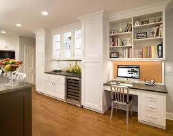 Built In Kitchen Cabinets Built In Desks In Kitchens Kitchen Traditional With Open Shelving