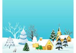 christmas village vector illustration download free vector art