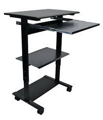 Computer Desk Mobile Mobile Computer Workstation Desk Stand Up Workstation Black Mobile