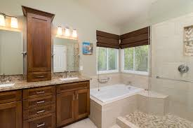 master bathroom with complex granite by remodel works bath