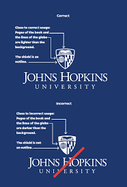 what does the color blue represent university logo johns hopkins brand guidelines