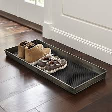 Crate And Barrel Bath Rugs Zinc Boot Tray With Liner Crate And Barrel