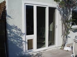 Patio Doors With Built In Pet Door Patio French Back Doors With Pre Installed Pet Doggy Door Dog