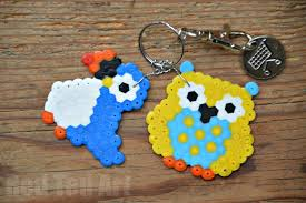 make key rings images Gifts kids can make hama bead keyring owls red ted art 39 s blog jpg
