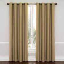 Curtains 95 Inches Length Eclipse Blackout Wyndham Blackout Charcoal Curtain Panel 63 In