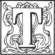 english alphabet ornaments coloring pages free coloring pages