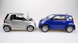 the toyota the smart fortwo vs the toyota iq 2012 video youtube