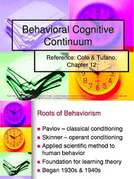 7 behavioral cognitive continuum reinforcement occupational