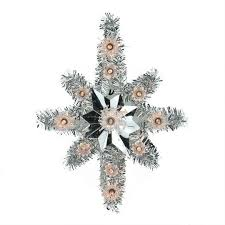 lighted tree topper lighted silver tinsel of bethlehem christmas tree topper