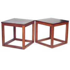 Cube Side Table Enchanting Cube Side Table With Pair Of 1960s Open Cube Side