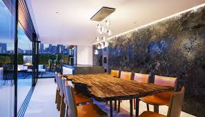 lli design interior designer london bespoke modern kitchen with live edge wood dining table