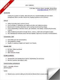 Sample Resume For Tim Hortons by Resume Cashier Objective Resume For Cashier Duties Sample Customer