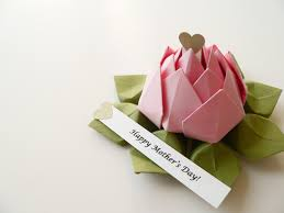 mother u0027s day gift personalized origami lotus flower in