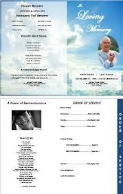 10 best images of memorial service card template funeral