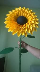 Sunflower Decorations Standing Paper Sunflowers Paper Flowers With Stem Stemmed Paper