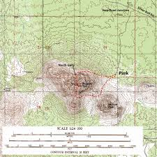 Sierra High Route Map by Trail Talk Outdoor Adventures In The American Southwest