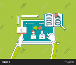 design online education flat design modern vector vector photo bigstock