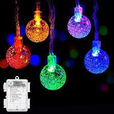 globe string lights decornova 9 8 15 led battery