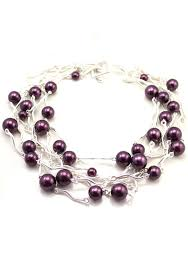 beaded silver necklace images Fashion silver purple beads silver chain string strand necklace jpg