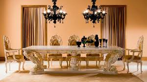 glamorous dining rooms luxurious black chandelier applied above glamorous dining table