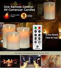 halloween candles amazon amazon com comenzar battery operated 5 inch 6 inch 7 inch