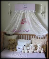 Crib Net Canopy by Crib Crown Bed Ruffles Nursery Canopy Cornice Lavender