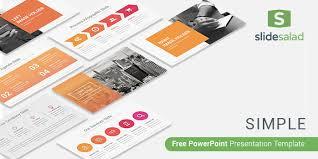 simple free powerpoint presentation template slidesalad