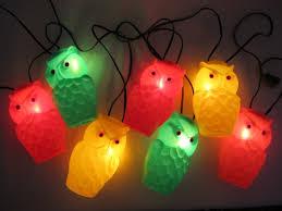 Owl Patio Lights Original Mold Owl Patio String Lights Vintage 1960s 1970s