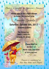 for girls winnie the pooh baby shower invitations future fam pb