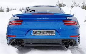 porsche 911 winter 2017 porsche 911 gt2 spied in winter testing with no camo