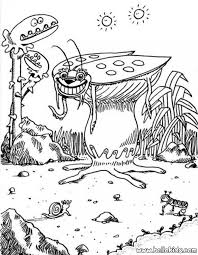 cockroach monster coloring pages hellokids