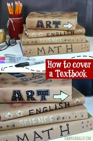 How To M by How To Cover A Textbook Sharpie Markers Textbook And Kraft Paper