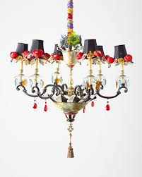 Horchow Chandeliers Mackenzie Childs Dark Everlasting Large 6 Light Chandelier