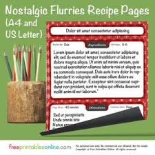 printable recipe pages free printables online