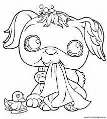 littlest pet shop coloring pages dog pet shop coloring pages