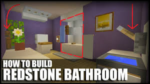 Minecraft Bathroom Designs How To Make A Redstone Bathroom In Minecraft Youtube