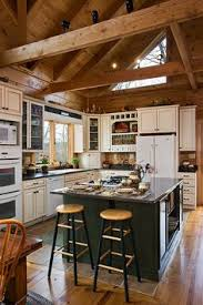 North Carolina Log Cabin Kitchen Cabinetry Log Cabin Homes - Cabin kitchen cabinets