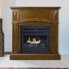 pleasant hearth compact 36 in vent free gas fireplace in heritage
