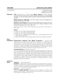 resume masters degree resume of jessica ellen landis 10 2015