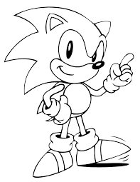 Free Sonic Coloring Pages Free Printable Sonic The Hedgehog Coloring Pages H M Coloring