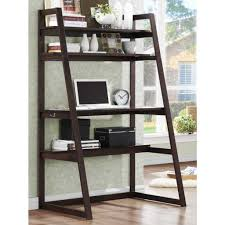 Leaning Ladder Shelf White Leaning Bookcase And Desk Small Eat In Kitchen Table