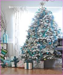 blue and silver tree decorations ideas rainforest