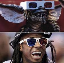 Funny Lil Wayne Memes - who wore it better gremlin lil wayne pictures kim kardashian funny