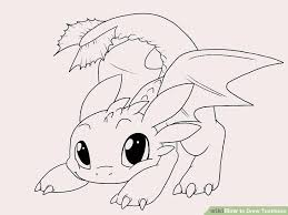 how to draw coloring pages how to draw toothless with pictures wikihow
