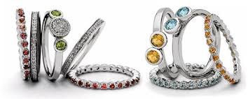 stackable birthstone rings stackable mothers rings birthstone eternity rings