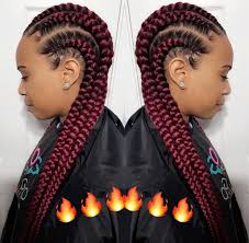 red cornrow braided hair feed in braids ongomovement pinterest protective styles
