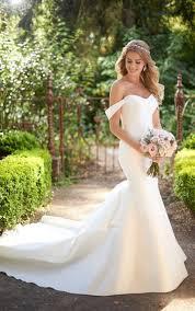 the shoulder wedding dress wedding dress gallery martina liana