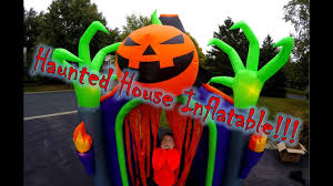 Inflatable Halloween Haunted House Haunted House Inflatable Stewartv Youtube