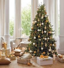 modern interior design for small elegant christmas tree decorating